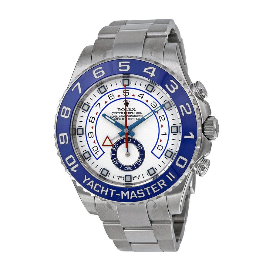 rolex yachtmaster ii white dial stainless steel rolex