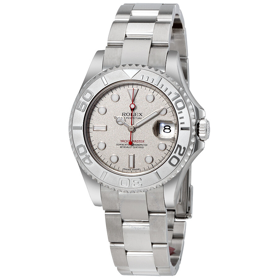 34ea843ac56 Rolex Yacht-Master Platinum Dial Stainless Steel Automatic Midsize Watch  168622PLSO ...