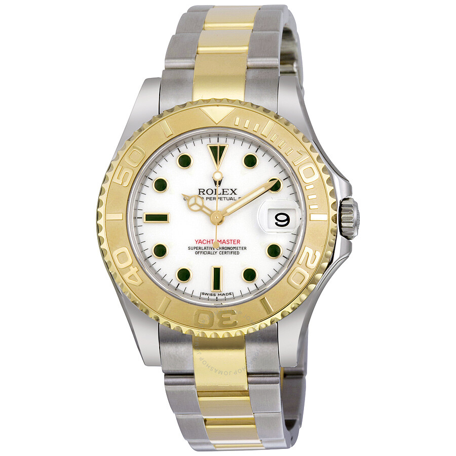 2cca4f8c01c Rolex Yacht-Master White Dial Stainless Steel and 18K Yellow Gold Oyster  Bracelet Automatic Mid ...