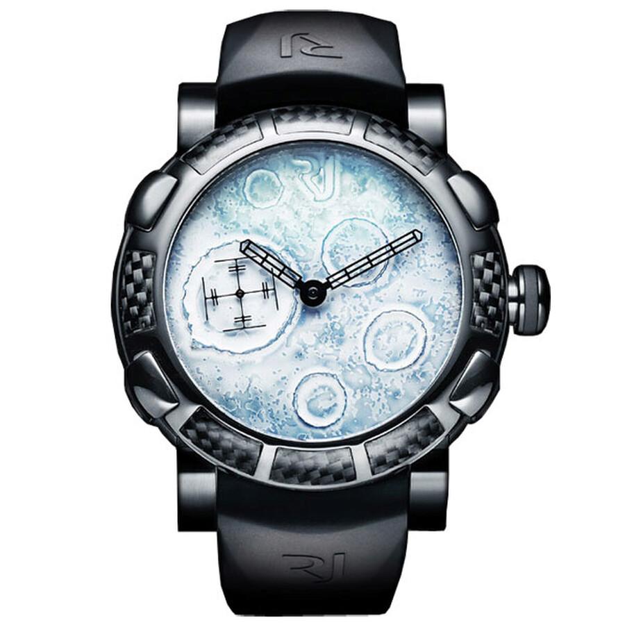 Romain Jerome Moon Dust-DNA White Dial Rubber Men s Watch Item No.  RJ.MW.FB.BBBB.00 40460c0f8d