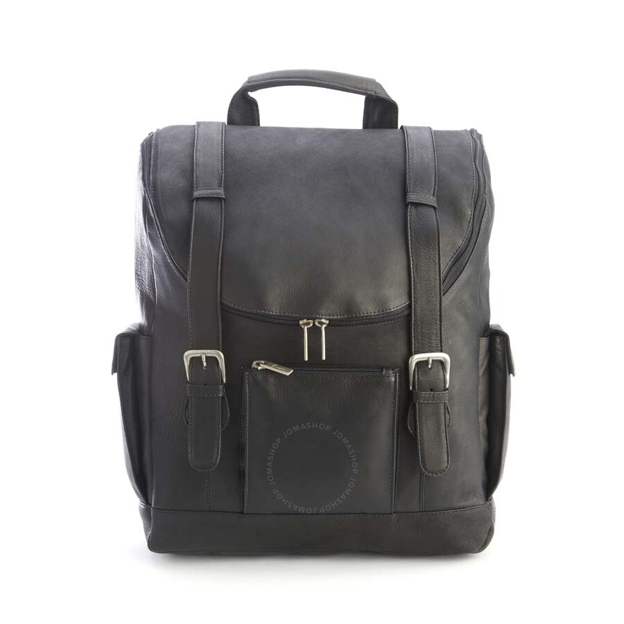 dbfa89fef8 ... Royce Black Colombian Leather Backpack with 15
