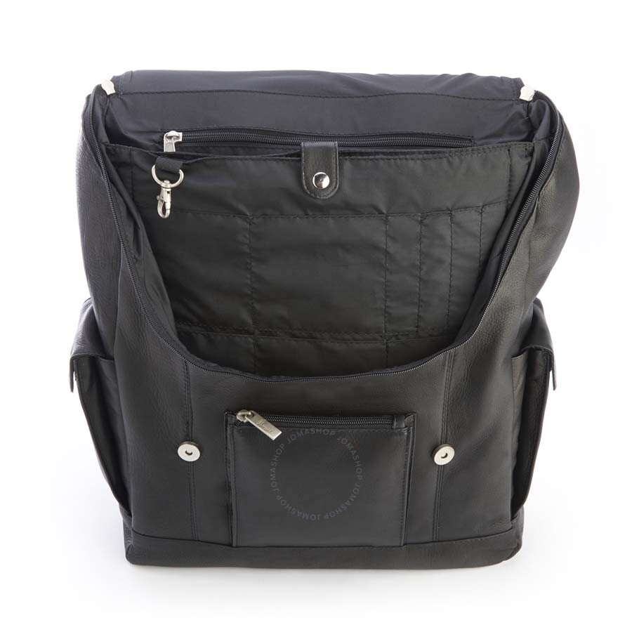 38d95915b1 ... Royce Black Colombian Leather Backpack with 15