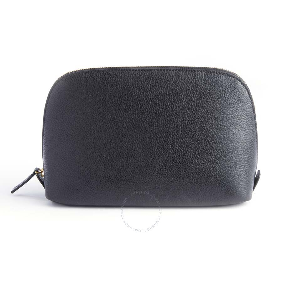 e5c061c27a0f Royce Black Cosmetic Bag in Pebbled Genuine Leather 250-BLACK-4 ...