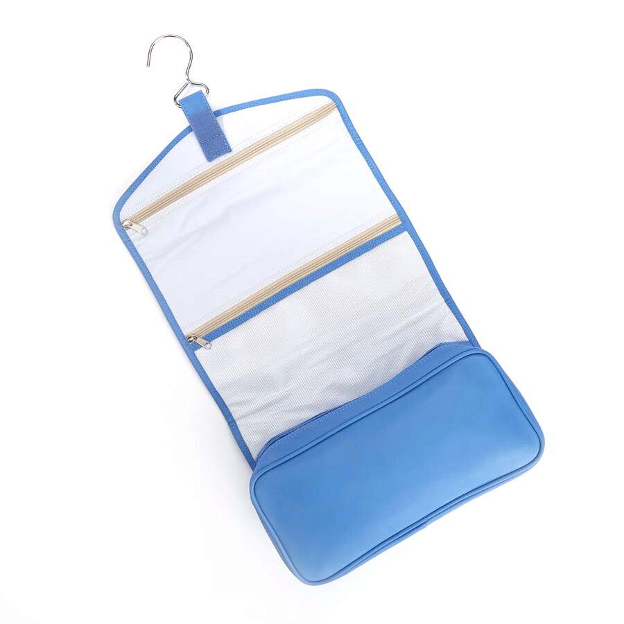 Royce Leather Royce Hanging Full Grain Genuine Leather Travel Toiletry Bag  - Light Blue Item No. HANG-TOILET-RB 3a6217664cd37