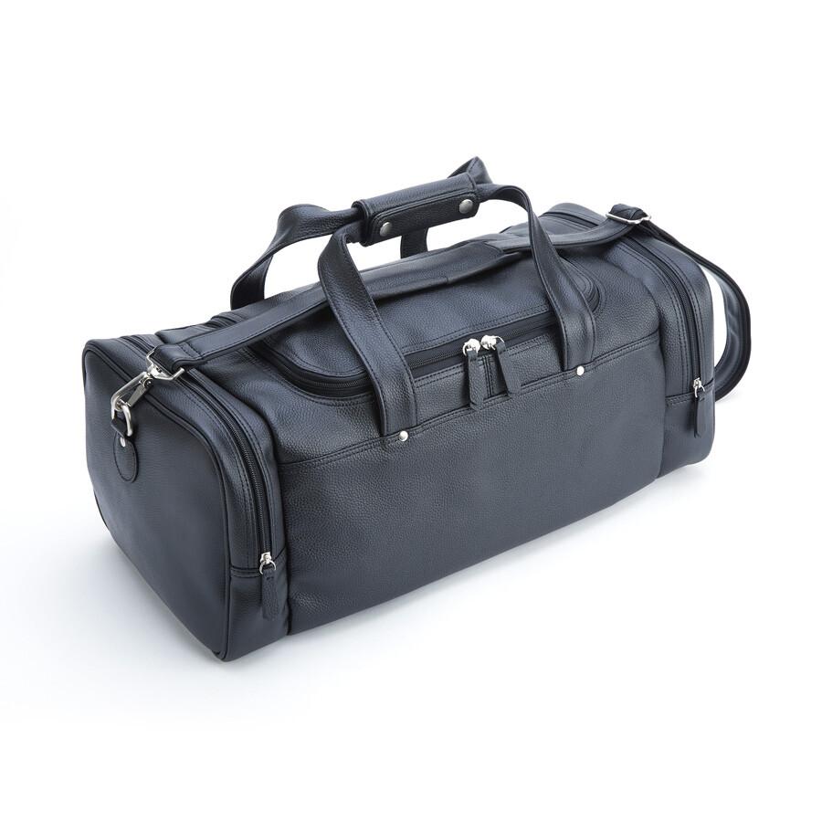 Royce Travel Duffel Bag In Leather