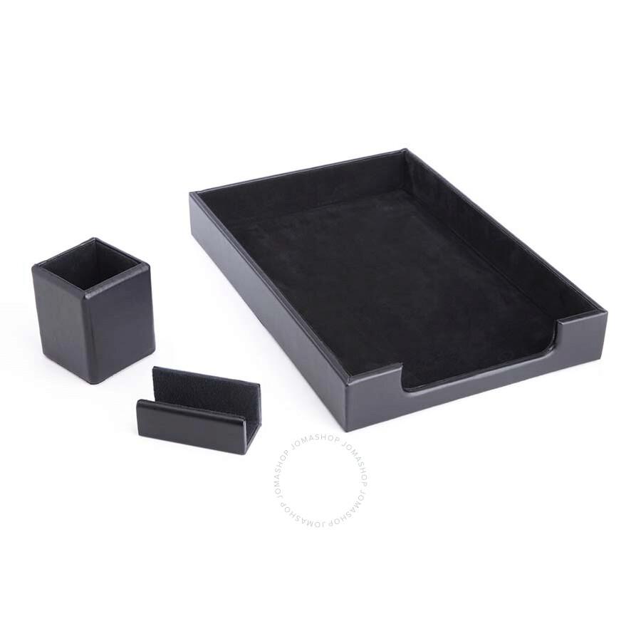 Royce luxury genuine leather desk organizer set royce - Leather desk organizer set ...