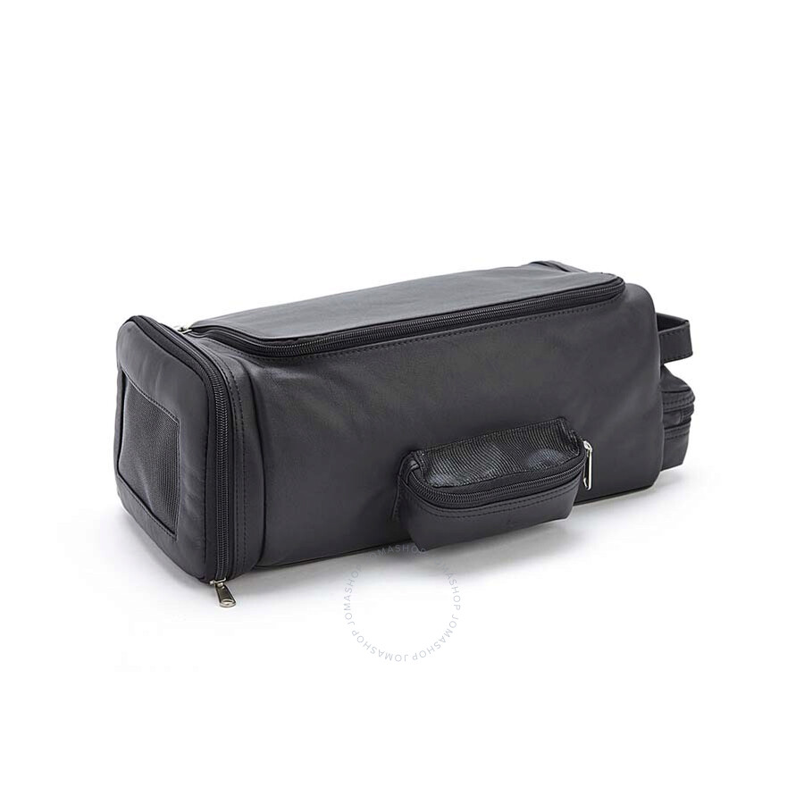 c90fd8809a Royce Luxury Handcrafted Leather Travel Golf Shoe and Accessory Bag - Black  ...