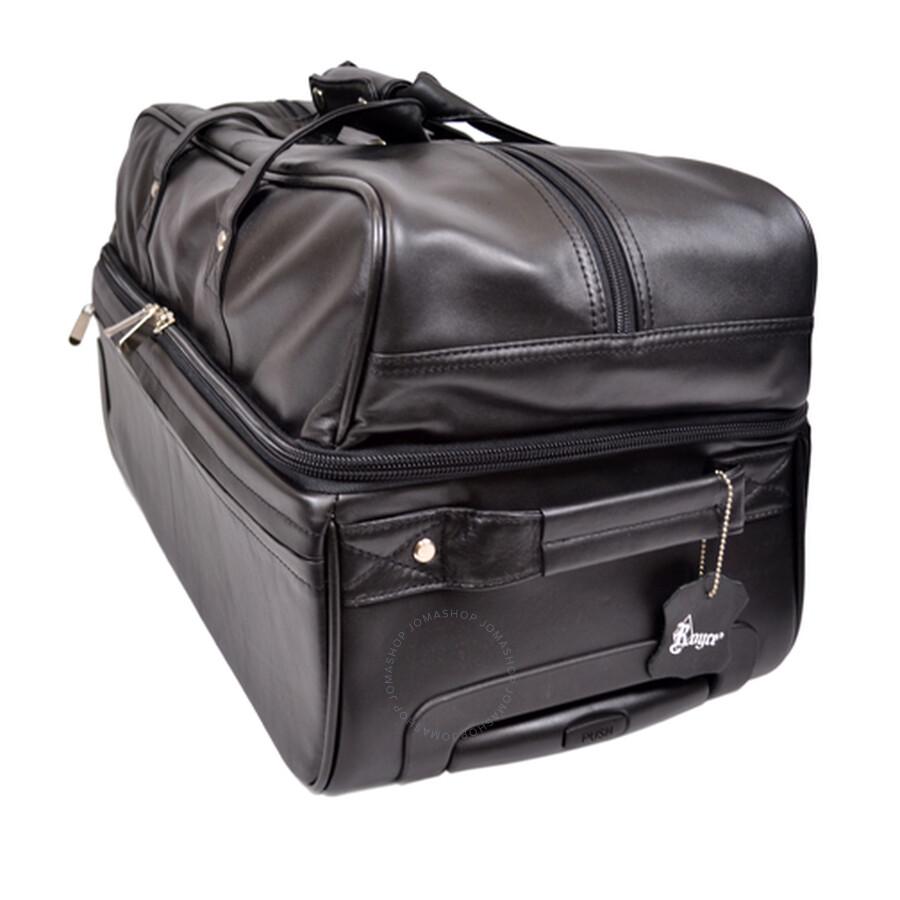 Royce Luxury Handmade Rolling Trolley Duffel Bag Luggage - Black ... 08a1c27d89e9d