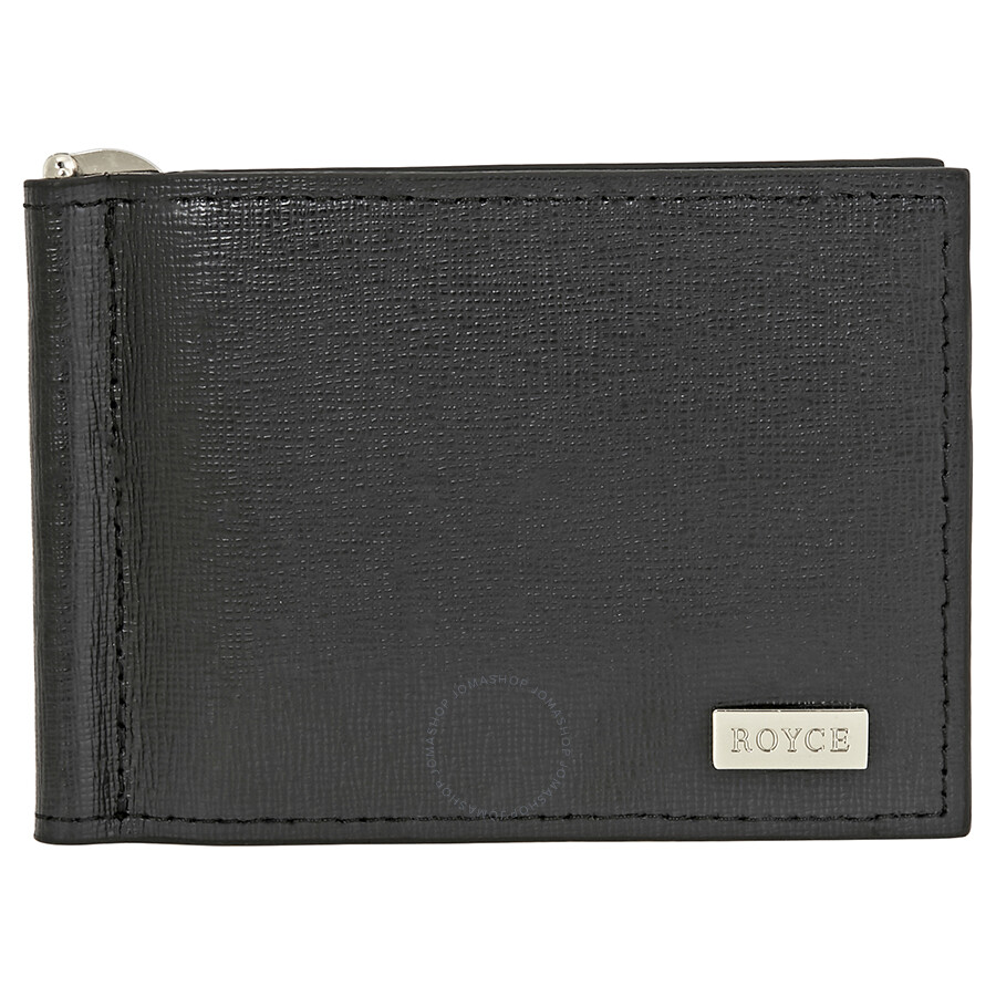 def6ac81986e2 ROYCE RFID Blocking Money Clip Credit Card Wallet in Genuine Saffiano  Leather