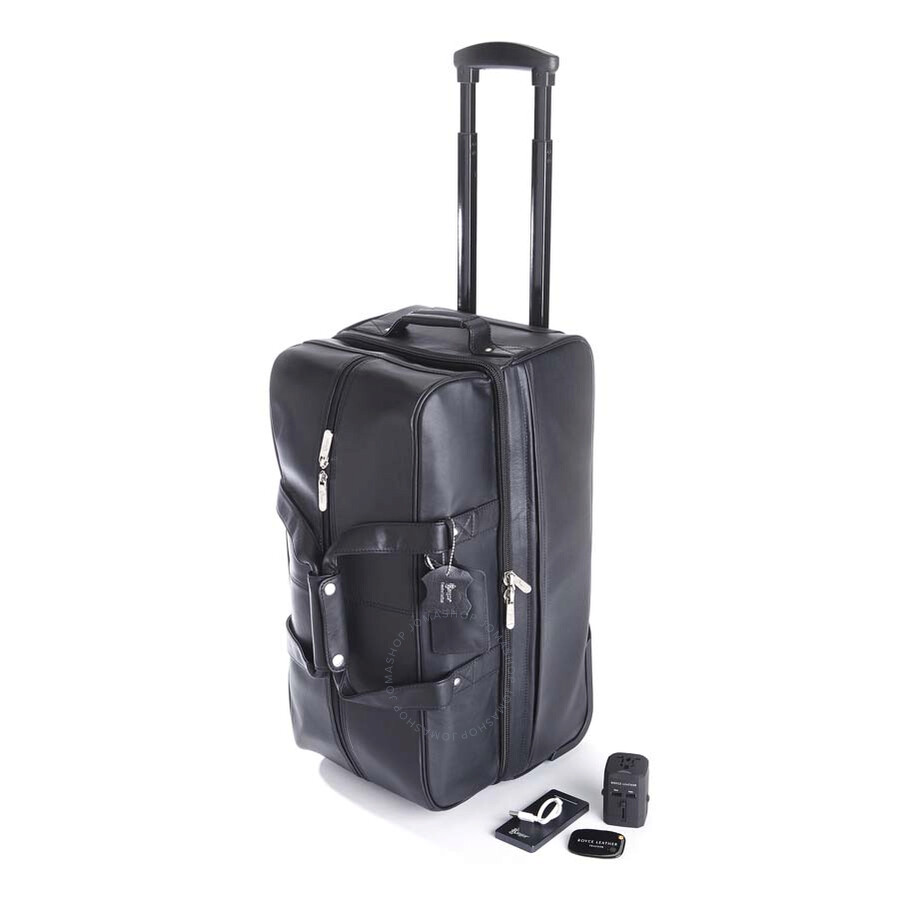 Royce Leather Royce Rolling Duffle Bag Luxury Travel Set - Black Item No.  TRAV-SET1-BLK 534cf2e107e01