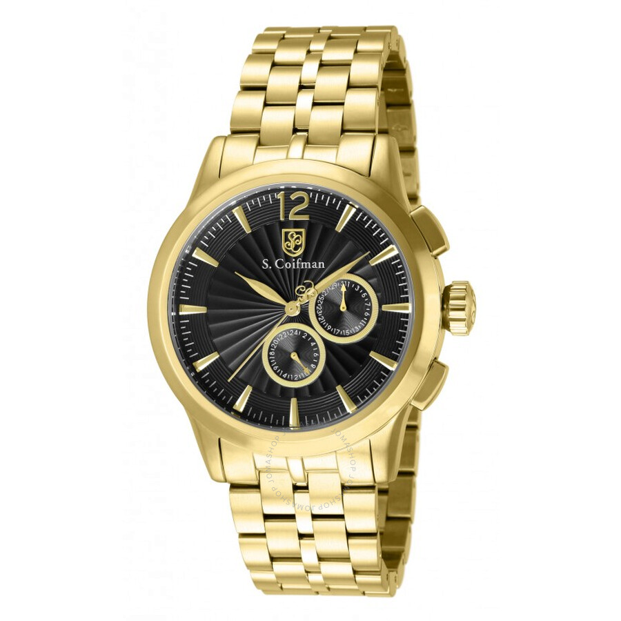 Black Dial Men S Gold Watches