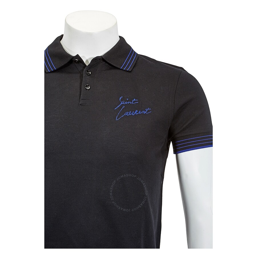 32f0bb78071 Saint Laurent Embroidered Polo Shirt- Size S - Apparel - Fashion ...