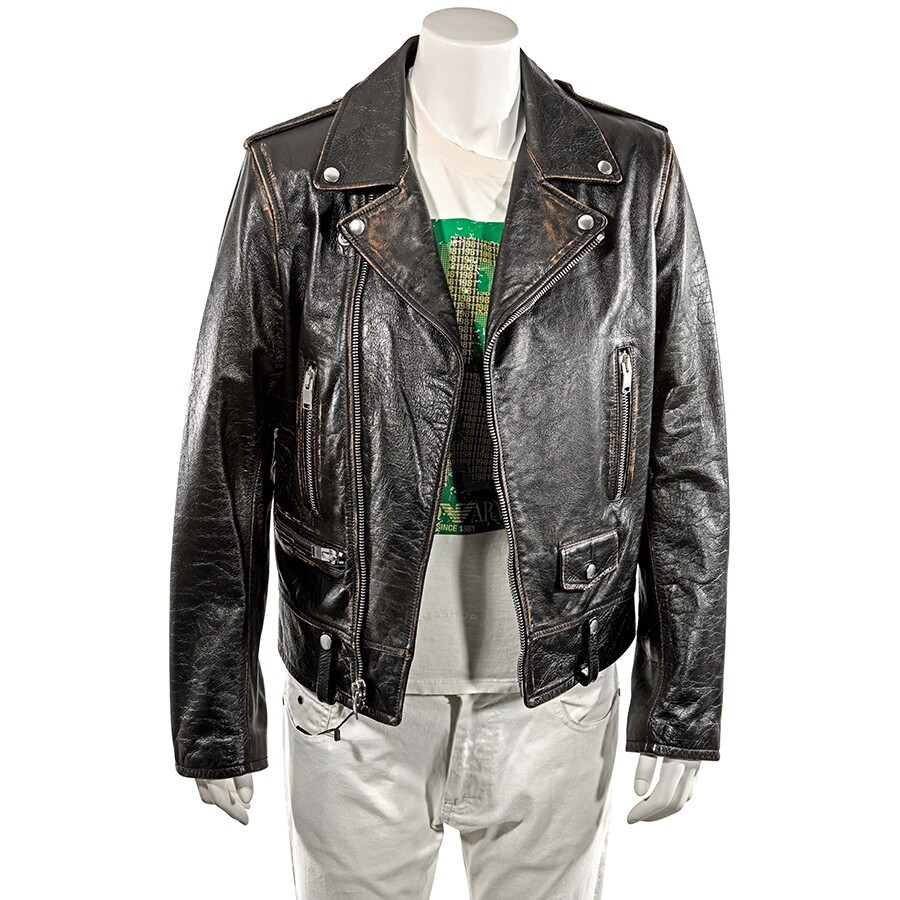5156cb8e91f Saint Laurent Men's Classic Motorcycle Jacket in Leather - Black/ Size 48