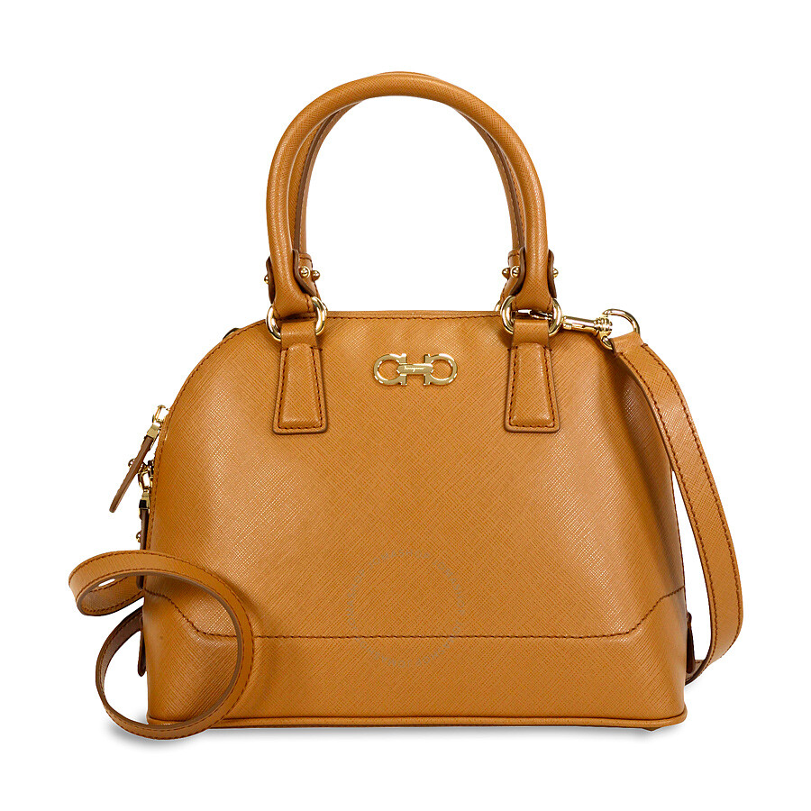 Salvatore Ferragamo Darina Top Handle Tote Bag - Sienne - Salvatore ... f28cf160ba