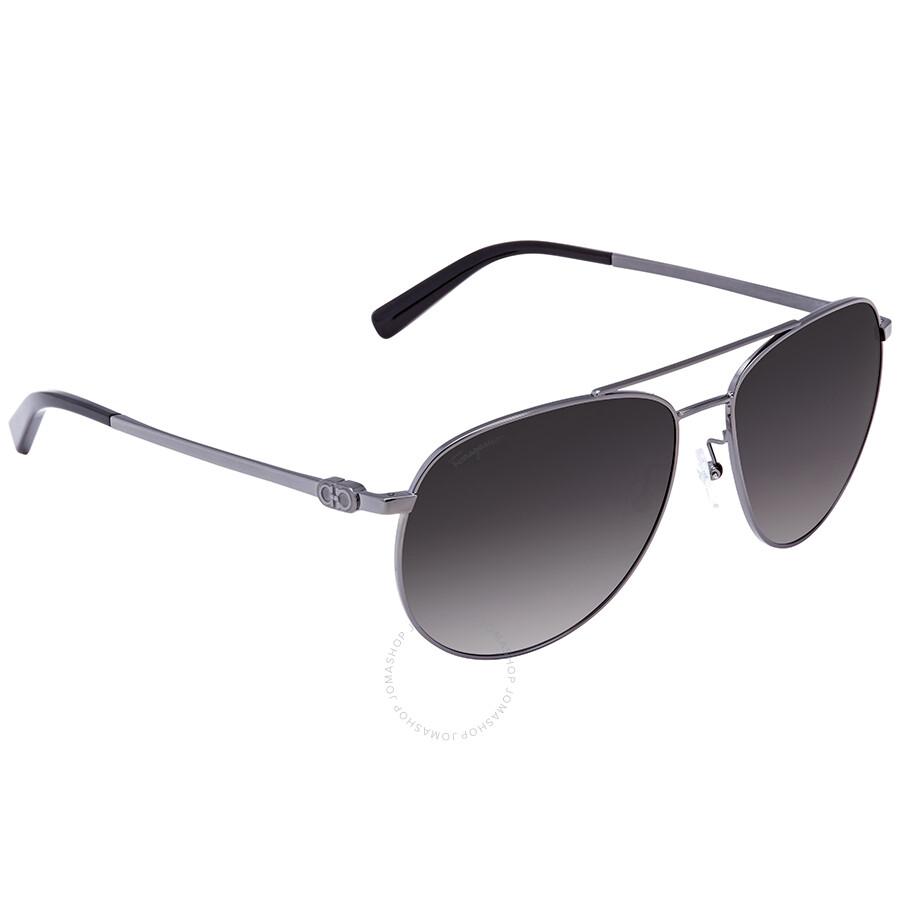 db33ab28030c Salvatore Ferragamo Dark Grey Gradient Aviator Sunglasses SF157S 069 60 ...