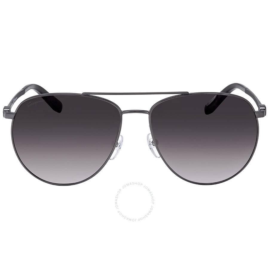 e28b7b509a9b ... Salvatore Ferragamo Dark Grey Gradient Aviator Sunglasses SF157S 069 60  ...