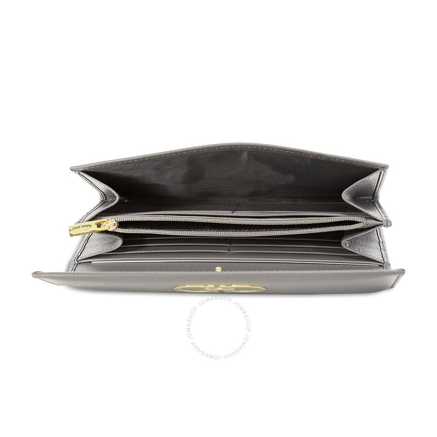 info for 5531b 149ee Salvatore Ferragamo Double Gancio Continental Wallet - Cendre