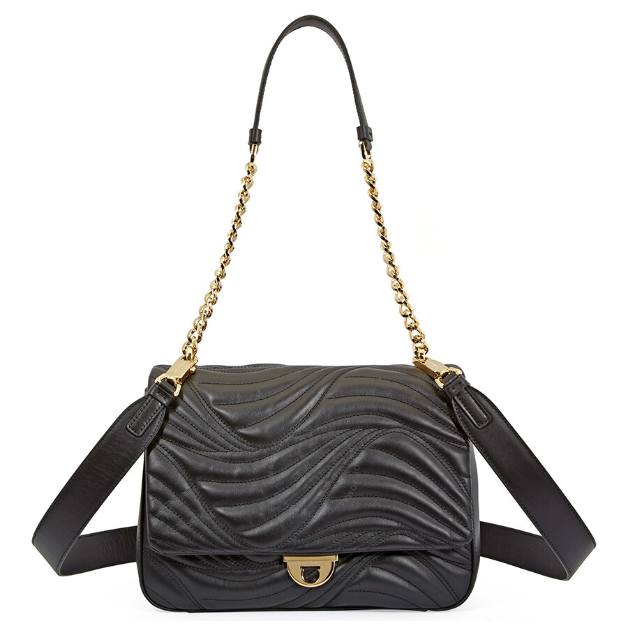 35d9d154138d Salvatore Ferragamo Lexi Quilted Leather Shoulder Bag- Black Item No.  21G899 0684288