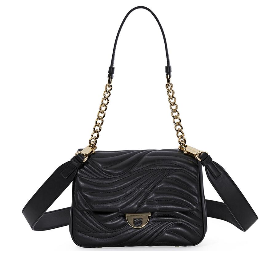 0091ff3e8a Salvatore Ferragamo Lexi Small Quilted Leather Shoulder Bag- Black ...