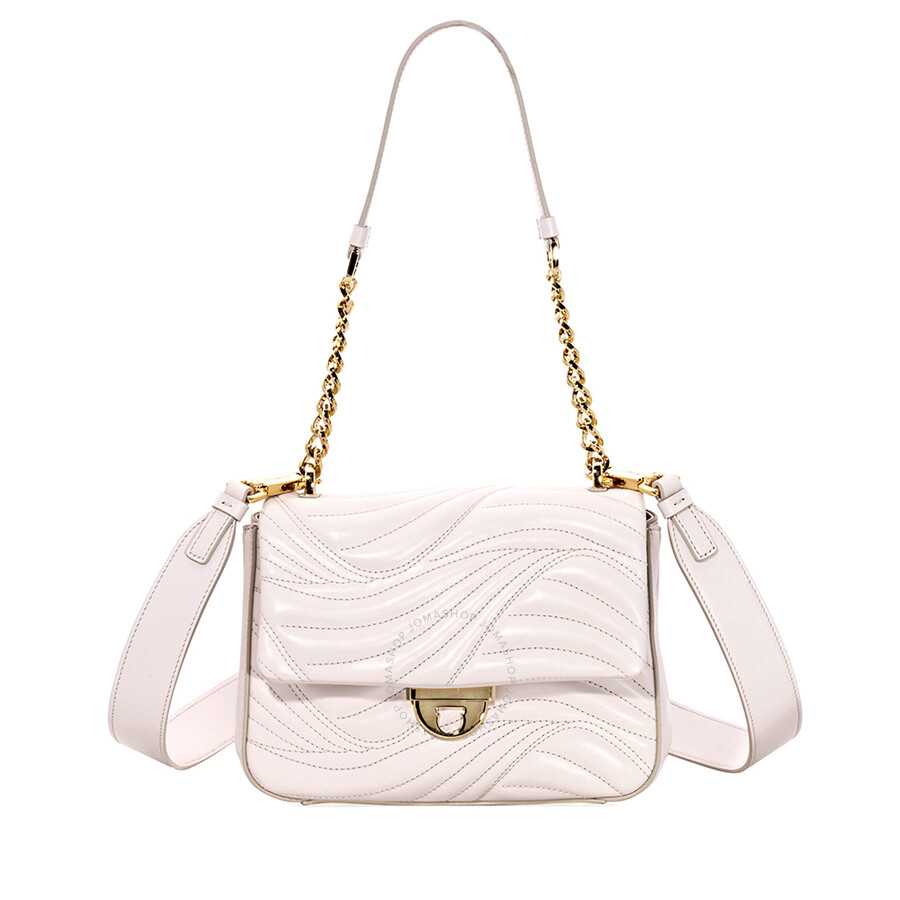 d715b98d3f1c Salvatore Ferragamo Lexi Small Quilted Leather Shoulder Bag- Jasmine Flower
