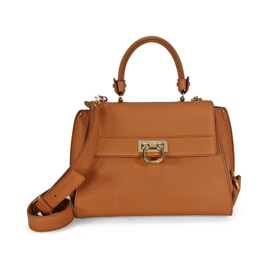 b76596970bdb Salvatore Ferragamo Medium Sofia Leather Satchel - Sienne ...