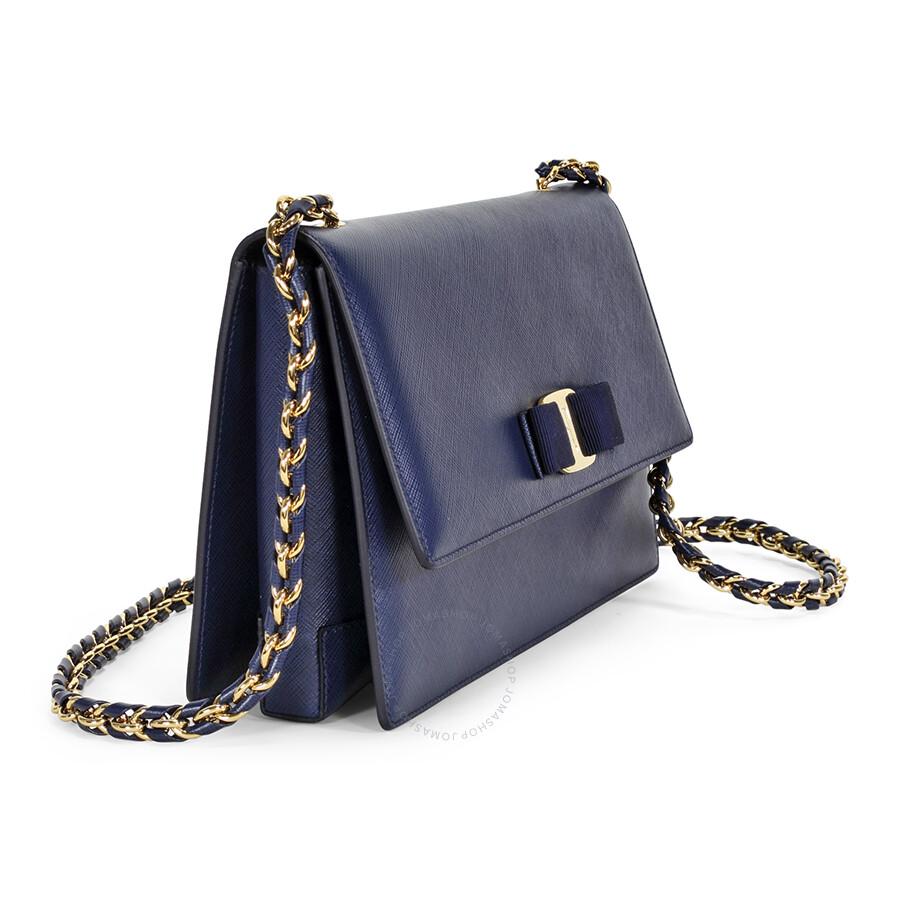 243f2c262967 Salvatore Ferragamo Medium Vara Flap Bag - Oxford Blue - Salvatore ...