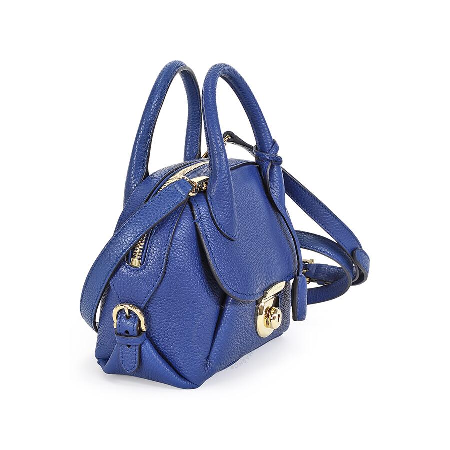 647076f4ba10 Salvatore Ferragamo Mini Fiamma Satchel - Sapphire Blue - Salvatore ...