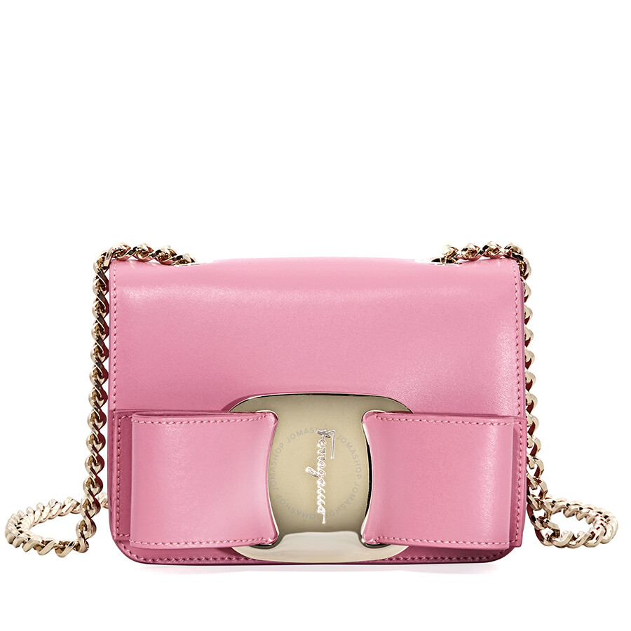 Salvatore Ferragamo Mini Vara Bow Crossbody Bag- Carnation Item No. 21G9650  690815 ba9e353cd80d8