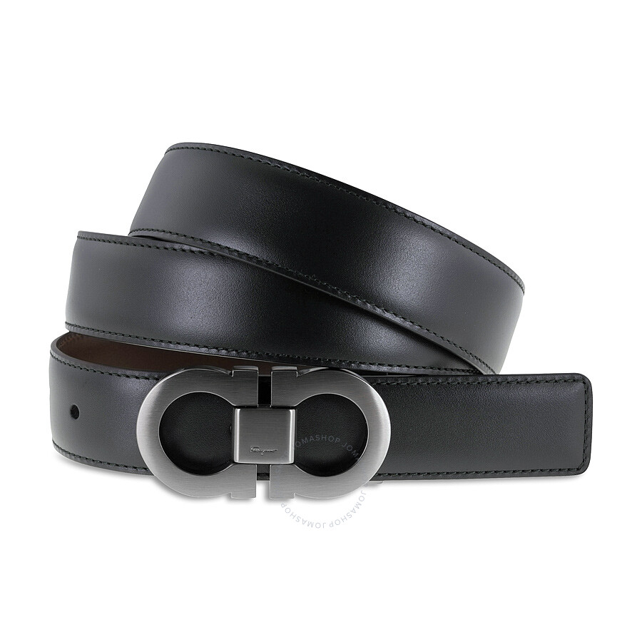 e0c667506bbd Salvatore Ferragamo Reversible Adjustable Leather Belt - Black ...