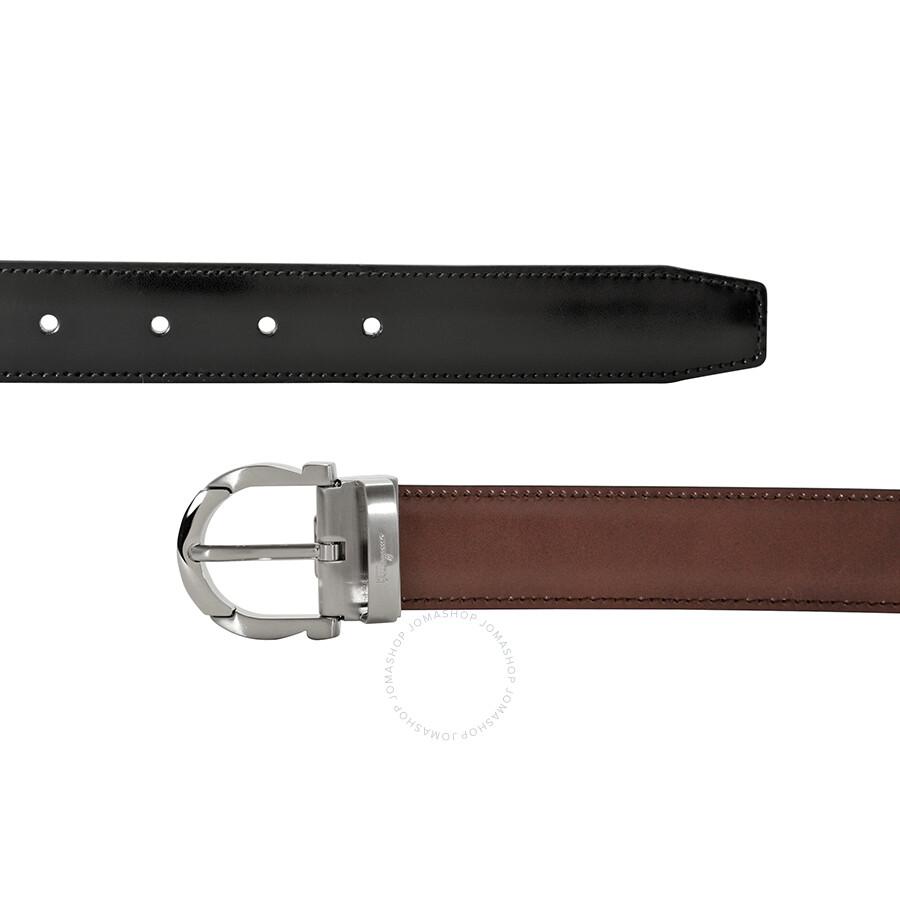 salvatore ferragamo reversible calfskin leather belt