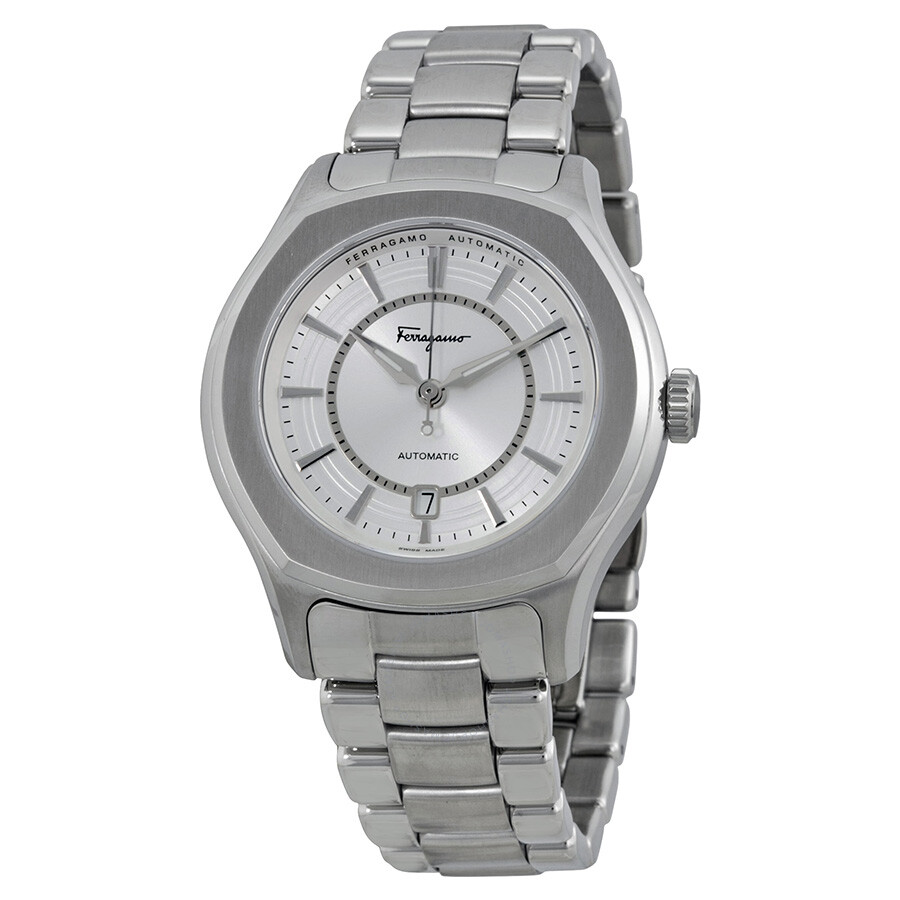 salvatore ferragamo automatic silver dial stainless steel men s salvatore ferragamo automatic silver dial stainless steel men s watch fq1040013
