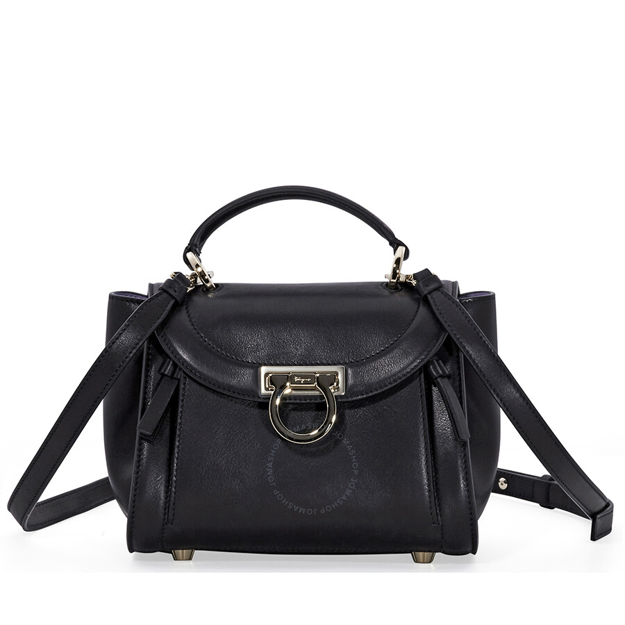 63b0d0cd31 Salvatore Ferragamo Sofia Rainbow Leather Crossbody Bag- Black Item No.  21G9730 690927