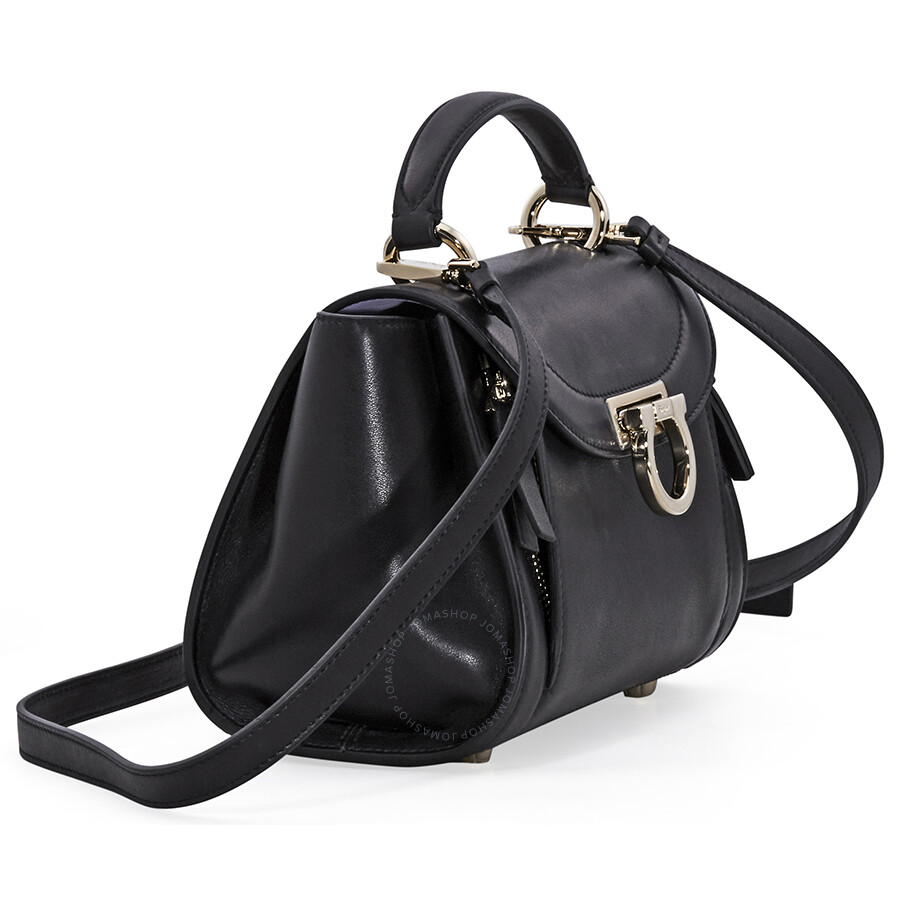 8df57fd4454f Salvatore Ferragamo Sofia Rainbow Leather Crossbody Bag- Black ...