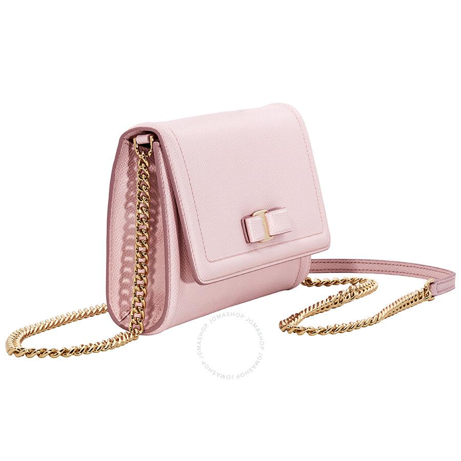 Salvatore Ferragamo Vara Bow Mini Crossbody Bag- Bon Bon Pink ... 253d67a643dd4