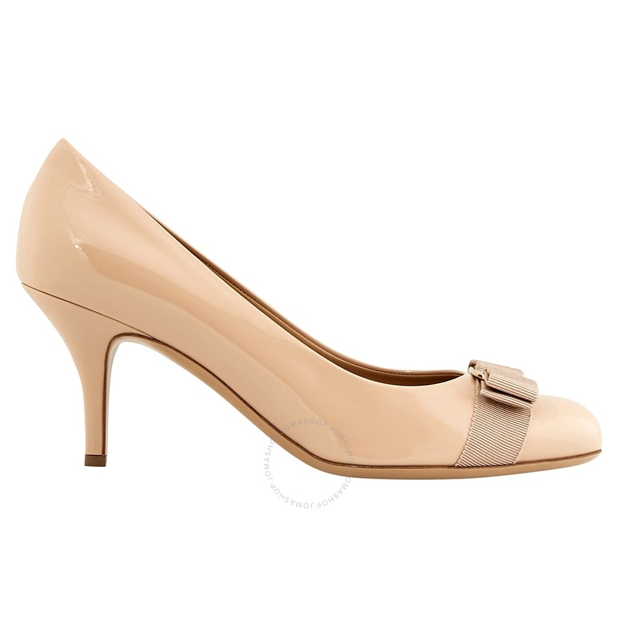 eca9d7f3af77 Salvatore Ferragamo Vara Bow Pump Shoe- Light Beige FR01B788518587 ...