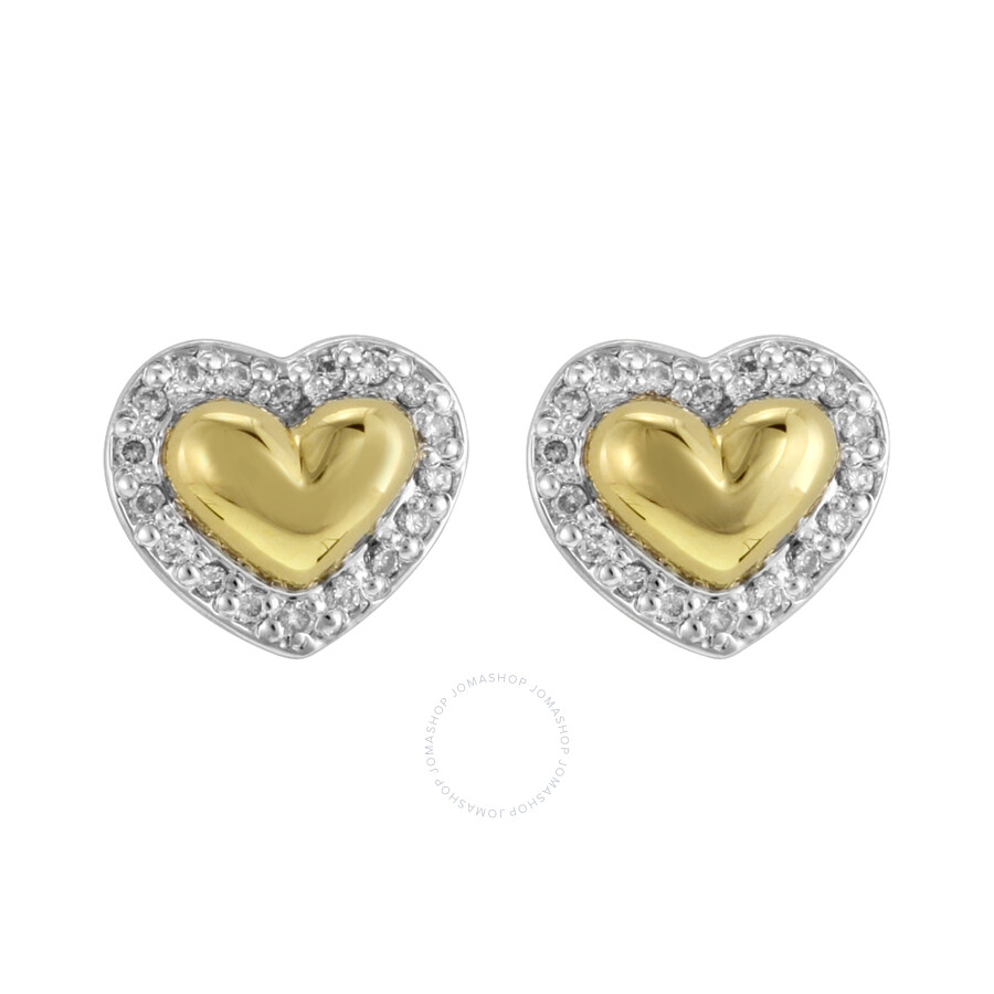 kays earrings sterling silver 0 18ct and gold 6072