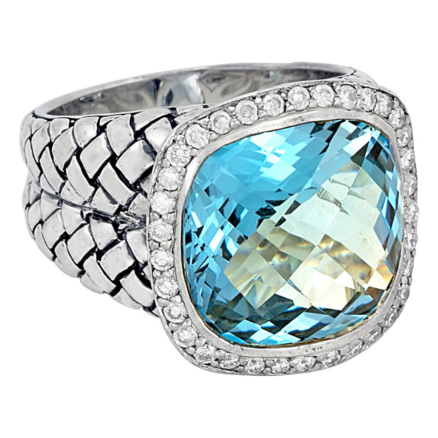 scott kay sterling silver blue topaz diamond basketweave. Black Bedroom Furniture Sets. Home Design Ideas