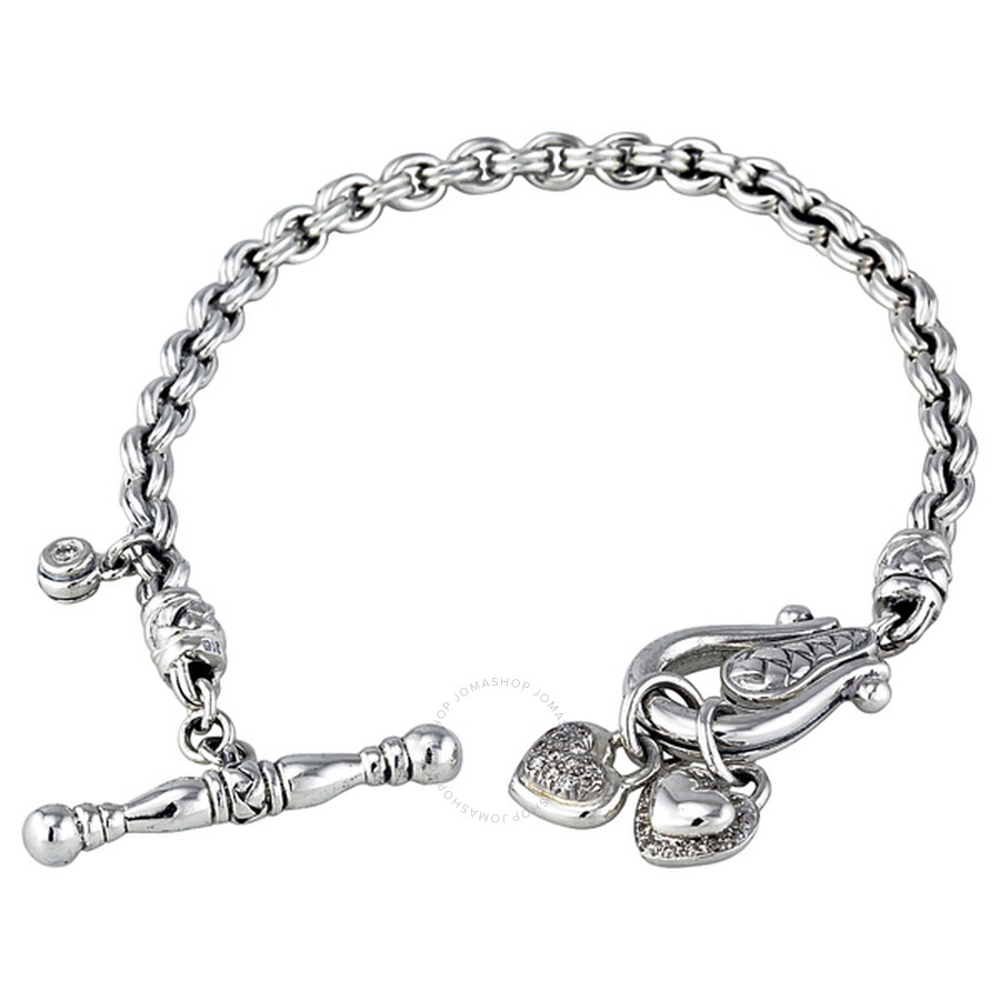 6f80436ef Scott Kay Sterling Silver Toggle Heart 0.4ct Diamond Bracelet B1055SPAD75  Item No. B1055SPAD75