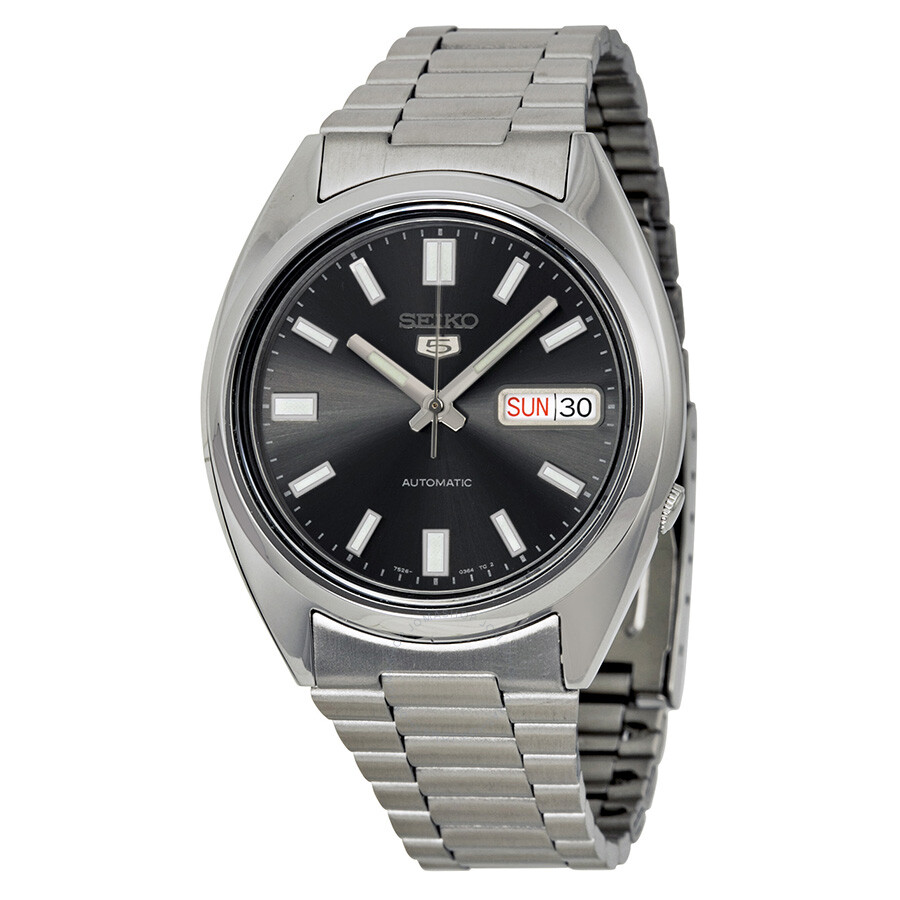 ffecb3730 Seiko 5 Automatic Black Dial Stainless Steel Men's Watch SNXS79 ...