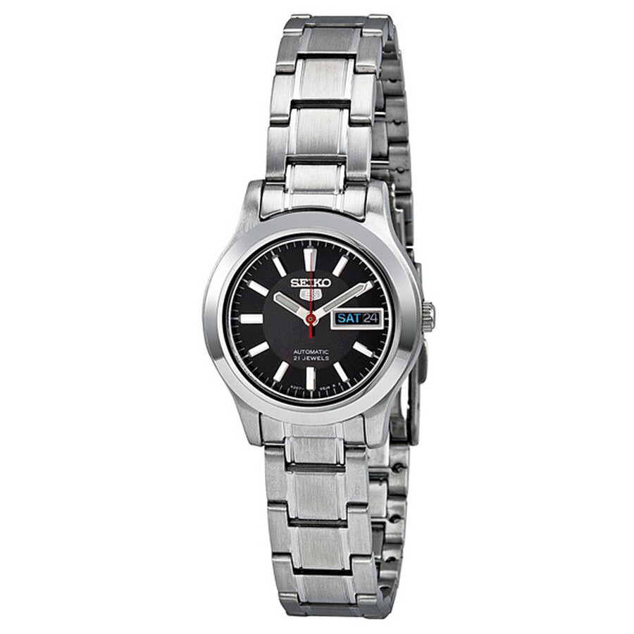 Seiko 5 Automatic Black Dial Stainless-Steel Ladies Watch SYMD95 ... 5ad8a28b2
