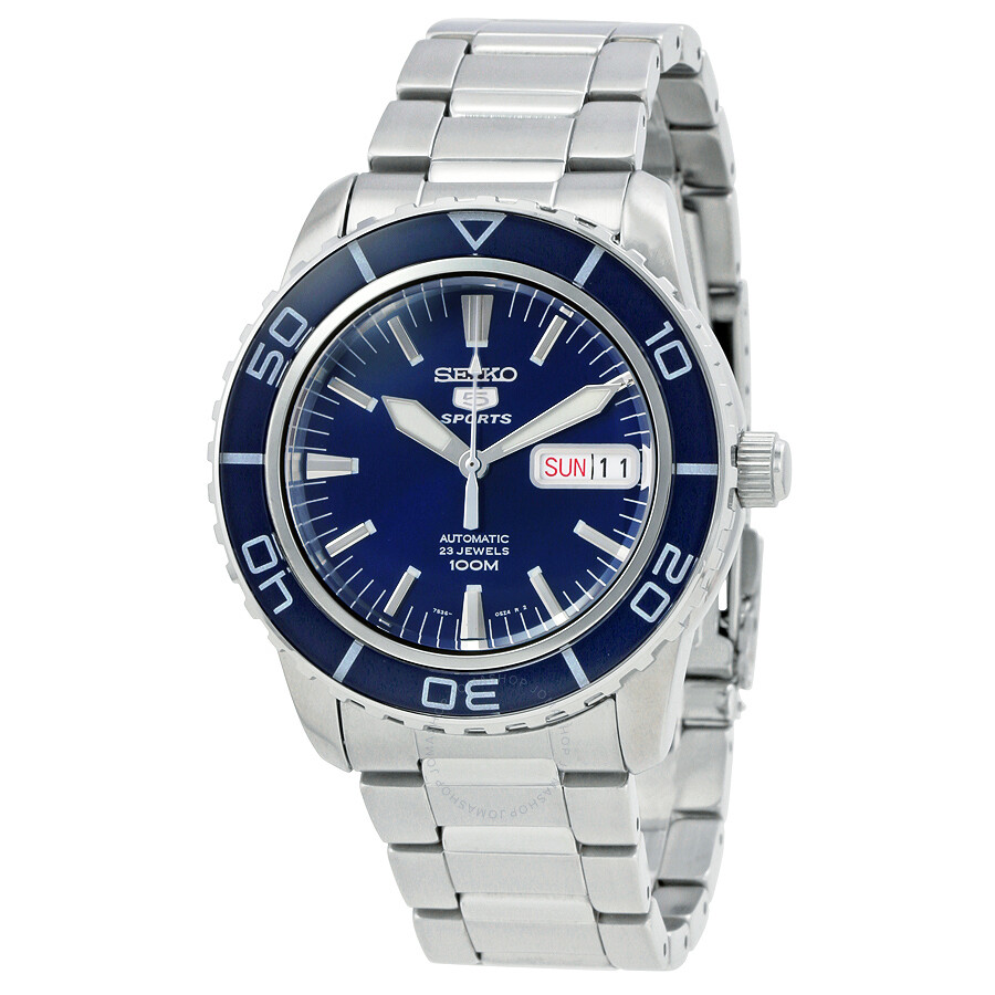 seiko 5 automatic dark blue dial stainless steel men s watch seiko 5 automatic dark blue dial stainless steel men s watch snzh53