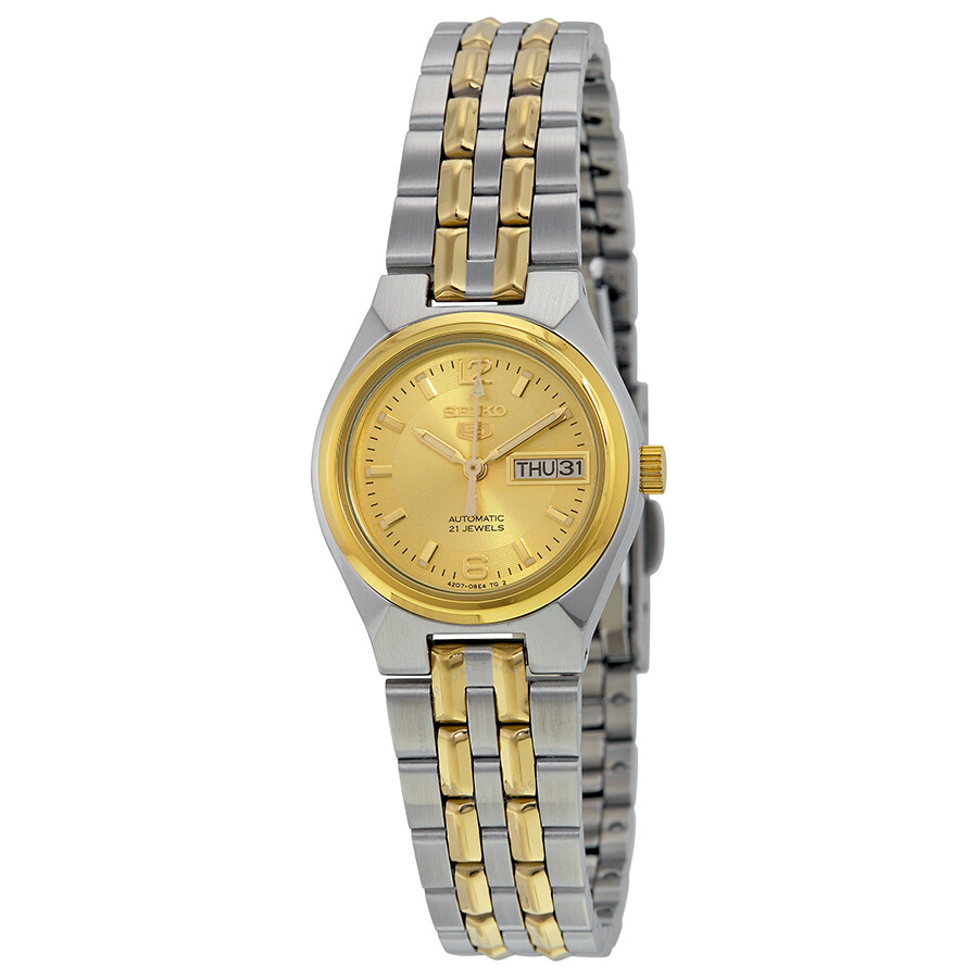 b750455a0 Seiko 5 Automatic Gold Dial Two-tone Ladies Watch SYMK34 - Seiko 5 ...