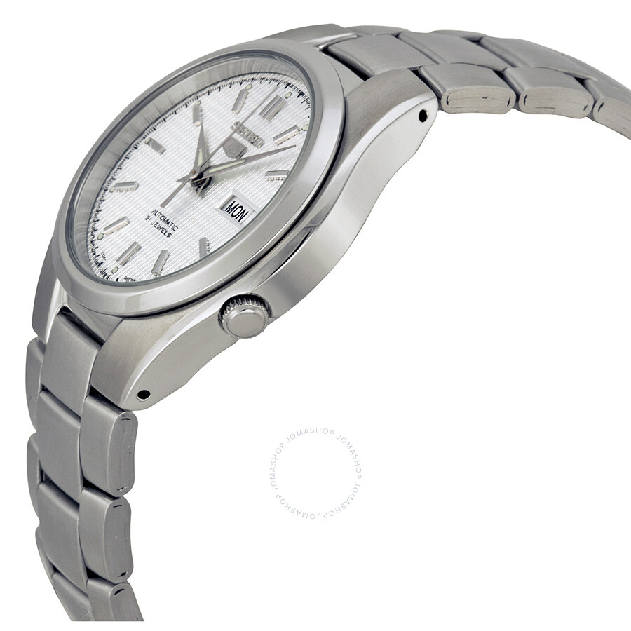 38e018b7025a ... Seiko 5 Automatic Silver Dial Stainless Steel Men s Watch SNK601 ...