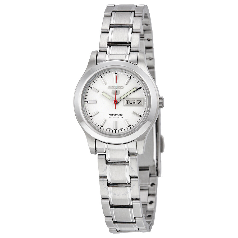 12860f366301 Seiko 5 Automatic Silver Dial Stainless Steel Ladies Watch SYMD87 ...