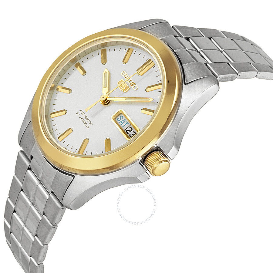 222d3aff9 ... Seiko 5 Automatic Silver Dial Stainless Steel Men's Watch SNKK96 ...