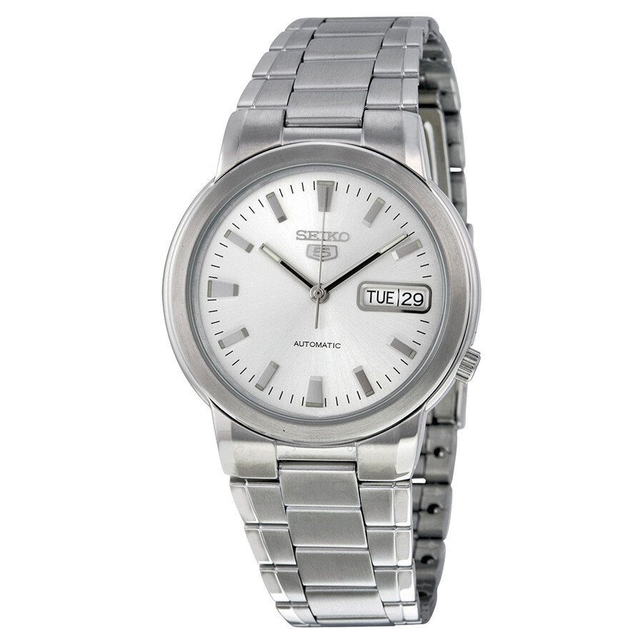 ecb42b2c1901 Seiko 5 Automatic Silver Dial Stainless Steel Men s Watch SNXE89K ...