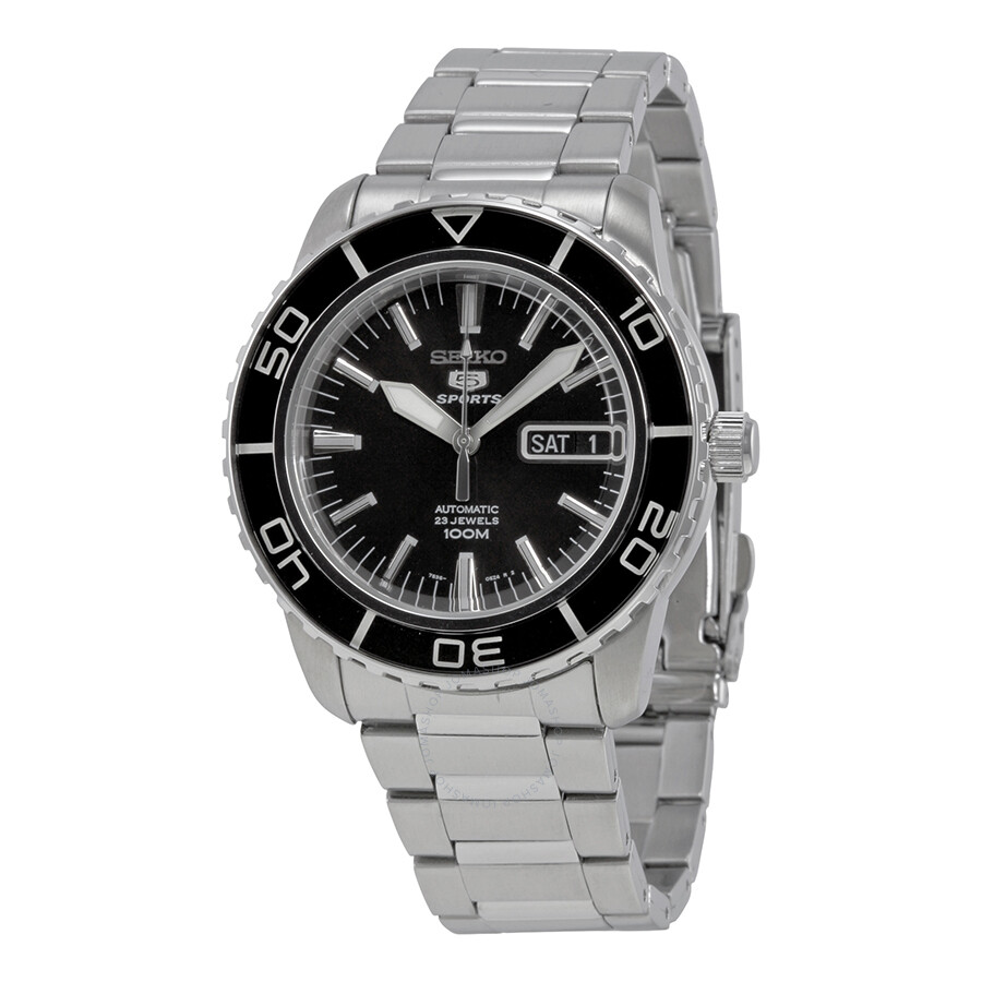 seiko fifty five fathoms black dial automatic men 39 s watch. Black Bedroom Furniture Sets. Home Design Ideas