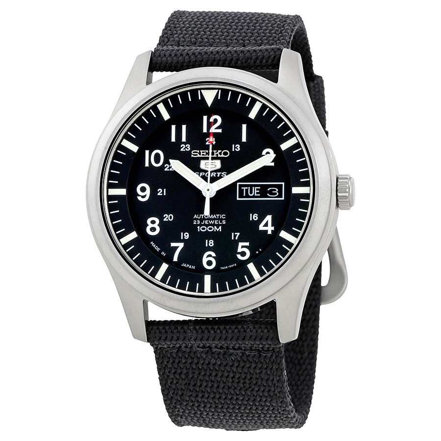 dbef3f578aa Seiko 5 Automatic Black Dial Men s Watch SNZG15J1 - Seiko 5 - Seiko ...