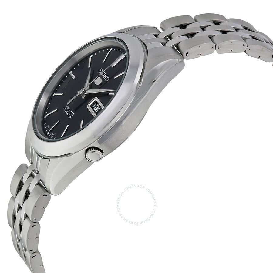 Seiko 5 Black Dial Stainless Steel Men S Watch Snkl23 Stainless