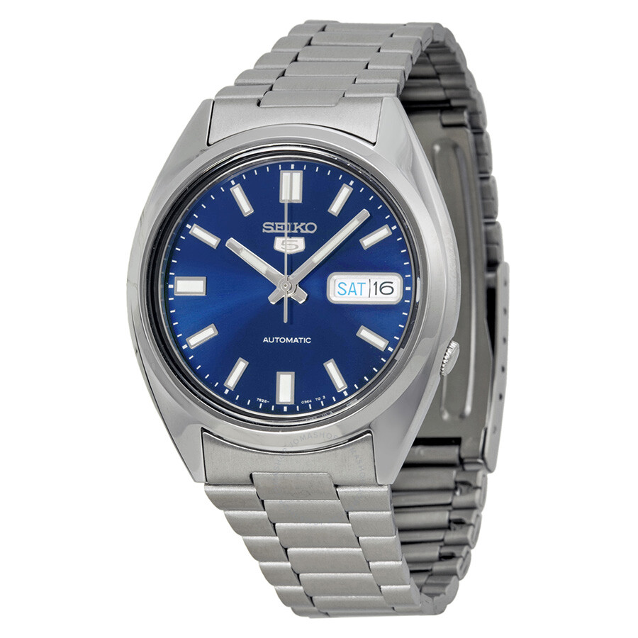 2742f15d9 Seiko 5 Automatic Blue Dial Stainless Steel Men's Watch SNXS77 ...